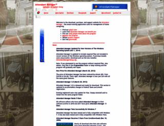 attendantmanager.com screenshot