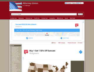 attorneyunion.org screenshot