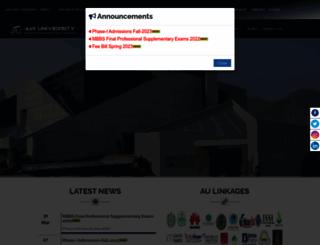 au.edu.pk screenshot