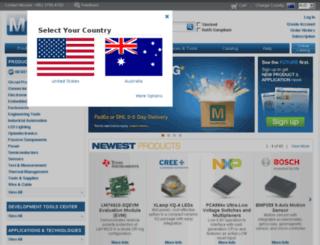 au.mouser.com screenshot