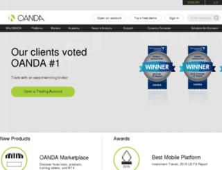 au.oanda.com screenshot