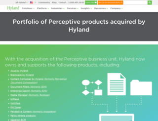 au.perceptivesoftware.com screenshot