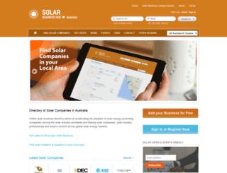au.solarbusinesshub.com screenshot
