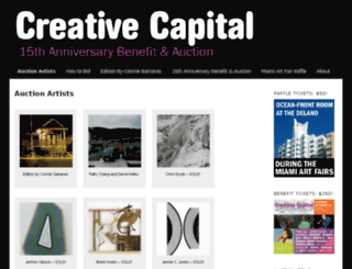 auction.creative-capital.org screenshot