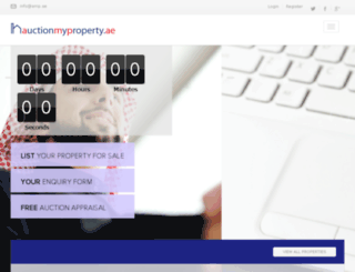 auctionmyproperty.ae screenshot
