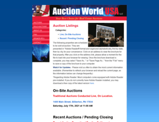 auctionworldusa.com screenshot