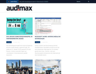 audimax-blog.de screenshot