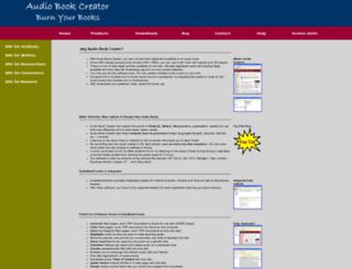 audiobookcreator.com screenshot
