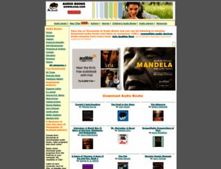audiobooksdownload.com screenshot