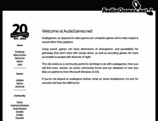 audiogames.net screenshot