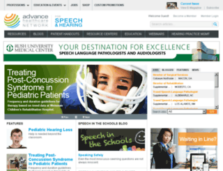 audiology.advanceweb.com screenshot