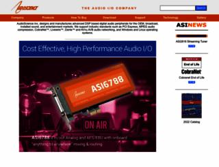 audioscience.com screenshot