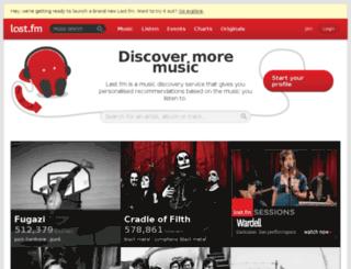 audioscrobbler.com screenshot