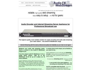 audiotxwebstream.com screenshot