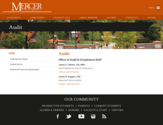 audit.mercer.edu screenshot
