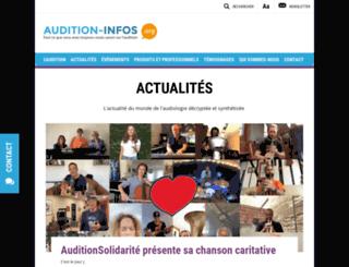 audition-infos.org screenshot