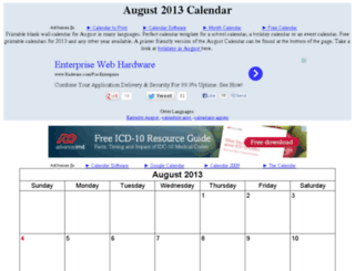 augustcalendar.org screenshot