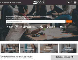 aula10formacion.com screenshot