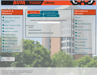 aumnicat.aum.edu screenshot