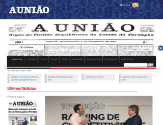 auniao.pb.gov.br screenshot