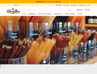 auntpattys.glorybee.com screenshot