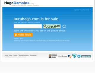 aurabags.com screenshot