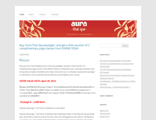 aurathaispa.wordpress.com screenshot