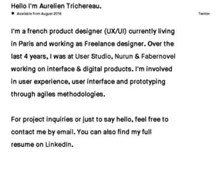 aurelientrichereau.com screenshot