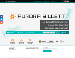 aurorabillett.no screenshot