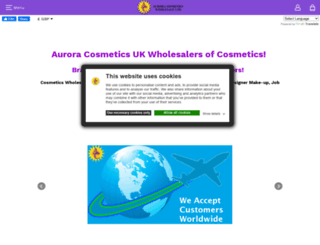 auroracosmetics.net screenshot