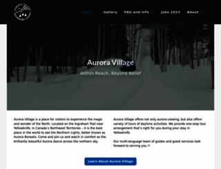auroravillage.com screenshot