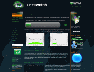 aurorawatch.ca screenshot