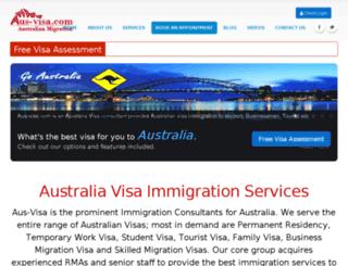 aus-visa.com screenshot