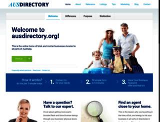 ausdirectory.org screenshot