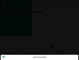 auslandsjob.de screenshot