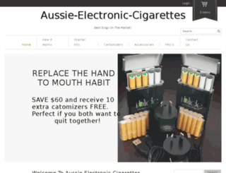 aussie-electronic-cigarettes.com.au screenshot