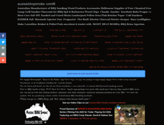 aussiebbqsmoke.com screenshot