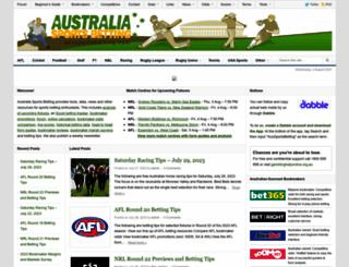 aussportsbetting.com screenshot