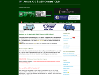 austina30a35ownersclub.co.uk screenshot