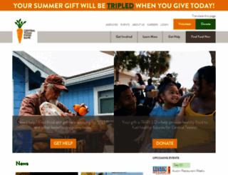 austinfoodbank.org screenshot