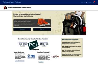 austinisd.schoolcashonline.com screenshot