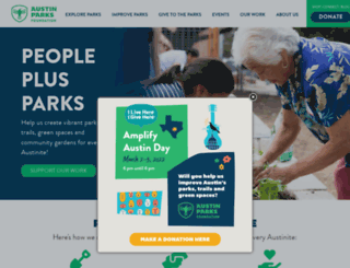 austinparks.org screenshot