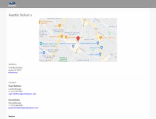 austinsubaru.myvehiclesite.com screenshot