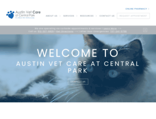 austinvetcarecentral.com screenshot