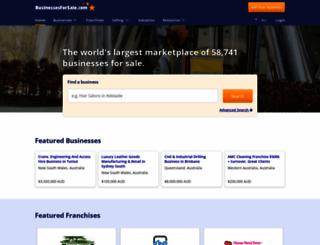 australia.businessesforsale.com screenshot