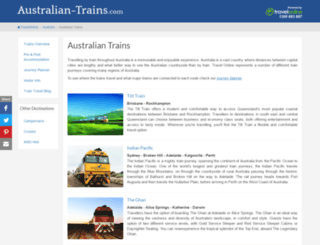 australian-trains.com screenshot
