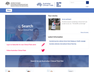 australianclinicaltrials.gov.au screenshot