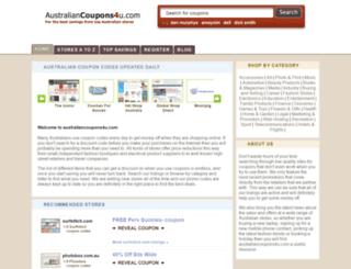 australiancoupons4u.com screenshot