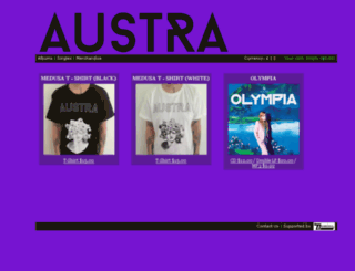 austraus.dominorecordco.com screenshot