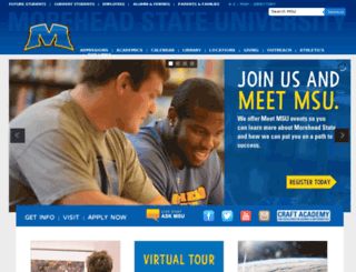 auth.moreheadstate.edu screenshot